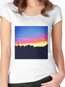 Sunset in UC Davis Women's Fitted Scoop T-Shirt