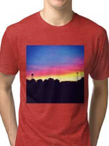 Sunset in UC Davis Tri-blend T-Shirt
