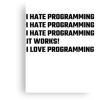 I Love Programming Canvas Print