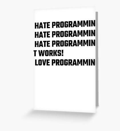 I Love Programming Greeting Card