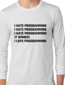 I Love Programming Long Sleeve T-Shirt
