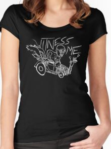 Nux car from Mad Max Fury Road in white Women's Fitted Scoop T-Shirt
