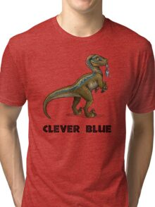 Clever Blue Tri-blend T-Shirt