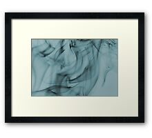 Smoldering Smoke Muted Pastel 004 Framed Print