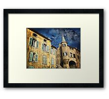 Ancient District of Saint-Paul in Hyères (French Riviera) Framed Print