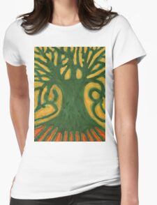Primitive Tree Womens Fitted T-Shirt