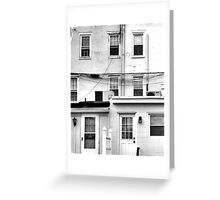 White With Windows Greeting Card