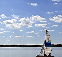 sailing on the lake by NEBPHOTO