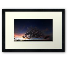 ©HCS The October Sunset In Pano IA. Framed Print