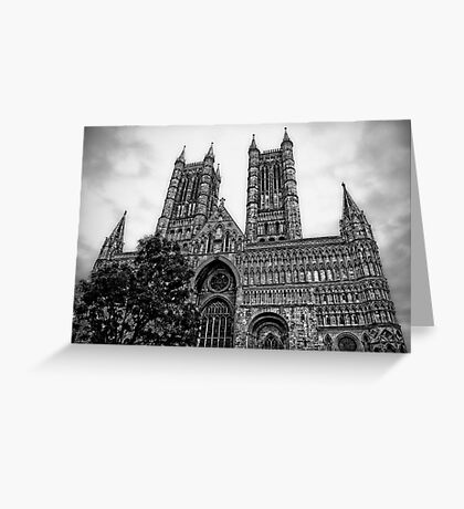 Lincoln Cathedral Facade Greeting Card