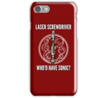 Laser Screwdriver. Who'd have Sonic? iPhone Case/Skin