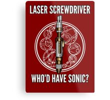 Laser Screwdriver. Who'd have Sonic? Metal Print