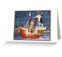 Pirates of the Kitty Kind Greeting Card