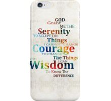 Colorful Serenity Prayer by Sharon Cummings iPhone Case/Skin