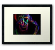 Circles in Motion Framed Print