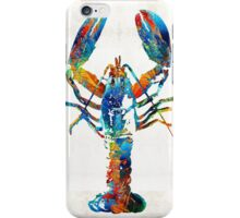Colorful Lobster Art by Sharon Cummings iPhone Case/Skin
