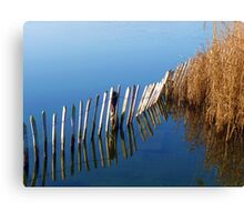 Perfect reflections in blue Canvas Print