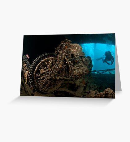 Sunken Motorbike - Thistlegorm Greeting Card