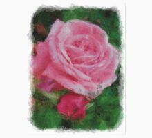 Pink Roses in Anzures 2 Sketchy One Piece - Long Sleeve