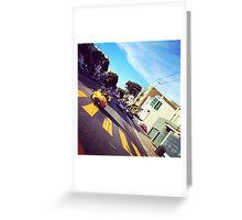 Go Karting in SF Greeting Card