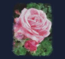 Pink Roses in Anzures 2 Watercolor Kids Clothes