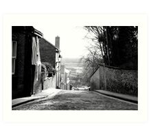 Old Cobbled Road Art Print