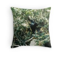 Panther in the Woods Throw Pillow