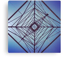 Underneath a Transmission Tower Canvas Print