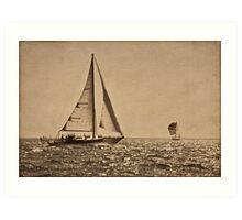 Sail the Silv'ry Sea Art Print
