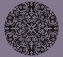 Black & White Folk Art Pattern Kids Tee
