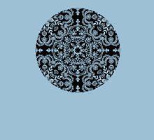 Black & White Folk Art Pattern Womens Fitted T-Shirt