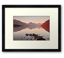 Tranquil Water in the Lakes Framed Print