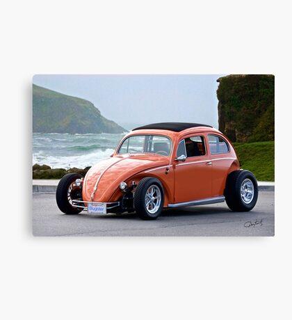 Volkswagen Bug 'Slightly Modified' Canvas Print