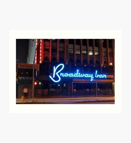 """Broadway Bar"" Art Print"