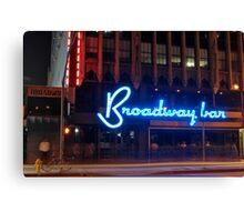 """Broadway Bar"" Canvas Print"