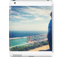 Looking Out on the Mediterranean iPad Case/Skin