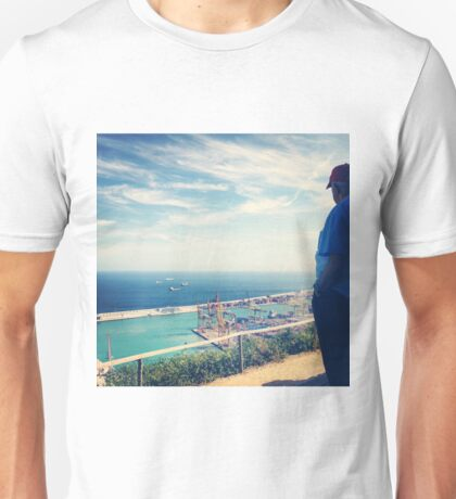 Looking Out on the Mediterranean Unisex T-Shirt