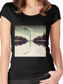 Washington Monument Reflections Women's Fitted Scoop T-Shirt