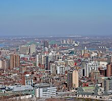 Montreal East end from Mount Royal by Josef Pittner
