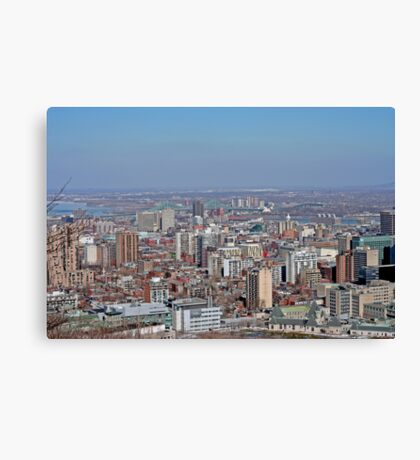 Montreal East end from Mount Royal Canvas Print