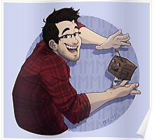 Markiplier & Tiny Box Tim Poster