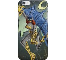 Batgirl, bat girl, bat woman, batwoman, Art, Poster, Superhero, Comic Book, Comics,  comic books, batman, bat man, joe badon iPhone Case/Skin