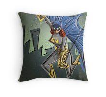 Batgirl, bat girl, bat woman, batwoman, Art, Poster, Superhero, Comic Book, Comics,  comic books, batman, bat man, joe badon Throw Pillow