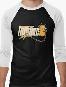 Vermilion City Thunderbolts: Raichu Sports Logo Men's Baseball ¾ T-Shirt