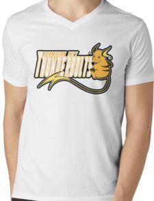 Vermilion City Thunderbolts: Raichu Sports Logo Mens V-Neck T-Shirt