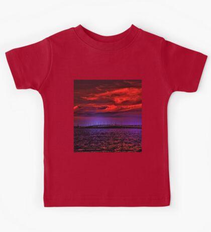 Sunset over Punta Gorda bridge Kids Tee