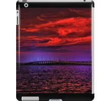 Sunset over Punta Gorda bridge iPad Case/Skin