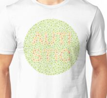 Autism can be hard to see - Orange on Green Unisex T-Shirt