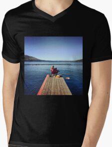 Serenity in Tahoe Mens V-Neck T-Shirt