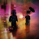 Penguin Attacks Batman by Darlene Lankford Honeycutt